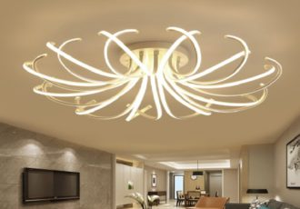 Living Room Bedroom Modern Led Ceiling Lights White Color Aluminum